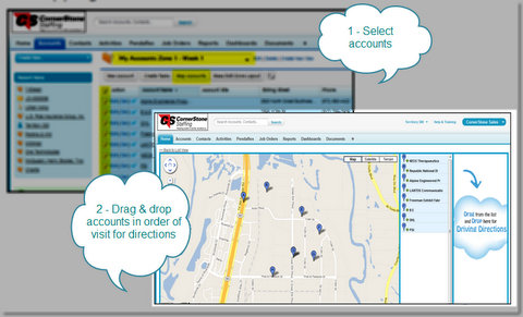 Professional Staffing Firm Uses Salesforce CRM with Google Maps for Territory Planning