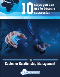 Ten Steps to Success for CRM
