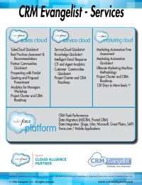 CRM Evangelist Services Fact Sheet