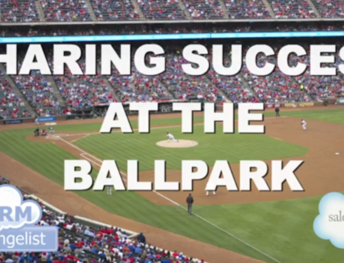 At the ballpark with Salesforce.com and CRM Evangelist