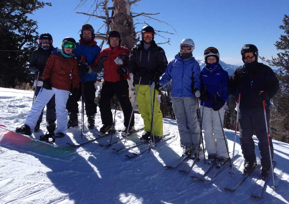 PHOTO: me and the gang on the ski trip hitting the slopes in Colorado.